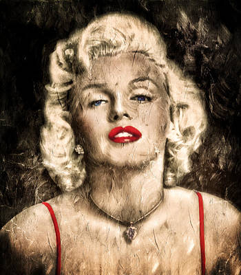 Painting - Vintage Grunge Goddess Marilyn Monroe  by Georgiana Romanovna