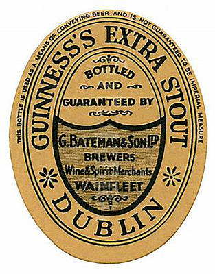 Digital Art - Vintage Guinness Beer Label - Circa 1969 by Marlene Watson