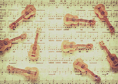 Musicians Photos - Vintage guitar music by Jorgo Photography - Wall Art Gallery