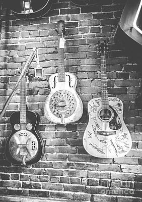 Photograph - Vintage Guitar Trio In Black And White by Eleanor Abramson