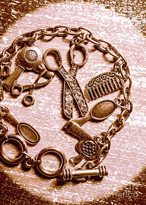 Jewellery Photograph - Vintage Hairdressing Charm by Jorgo Photography - Wall Art Gallery