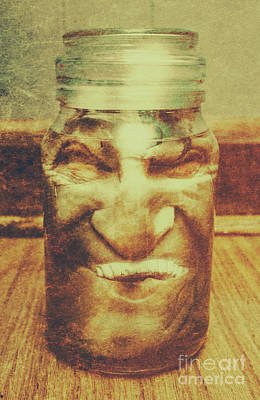 Jars Photograph - Vintage Halloween Horror Jar by Jorgo Photography - Wall Art Gallery