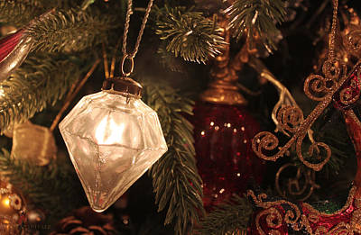 Photograph - Vintage Handblown Christmas Ornament by Susan Vineyard