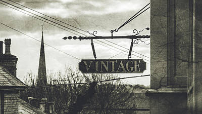 Photograph - Vintage Hanging Shop Sign Fine Art by Jacek Wojnarowski