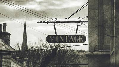 Photograph - Vintage Hanging Shop Sign Fine Art by Jacek Wojnarowski