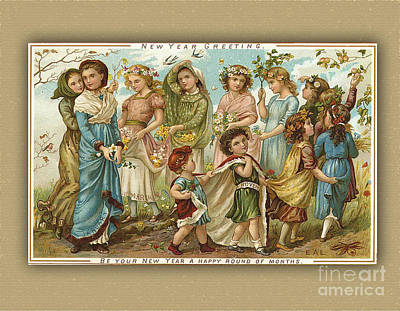 Digital Art - Vintage Happy New Year by Melissa Messick