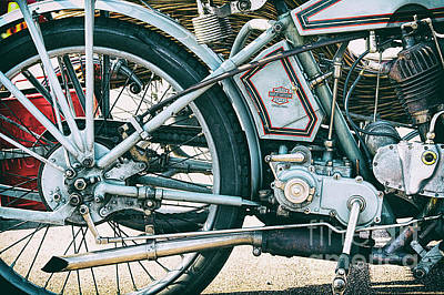 Photograph - Vintage Harley Davidson 11f by Tim Gainey