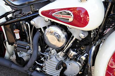 Vintage Harley V Twin Art Print by David Lee Thompson