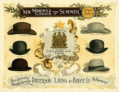 Photograph - Vintage Hat Ad 1898 by Andrew Fare