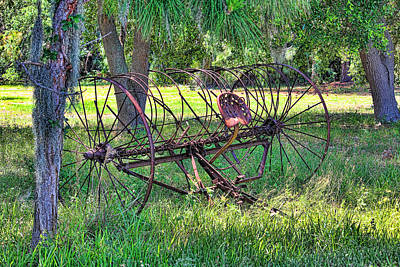 Photograph - Vintage Hay Rake by HH Photography of Florida
