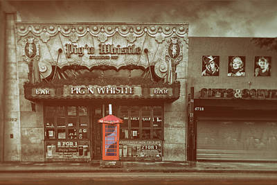 Photograph - Vintage Hollywood Hangout by Joseph Hollingsworth