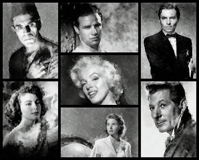 Actors Royalty-Free and Rights-Managed Images - Vintage Hollywood Stars by John Springfield