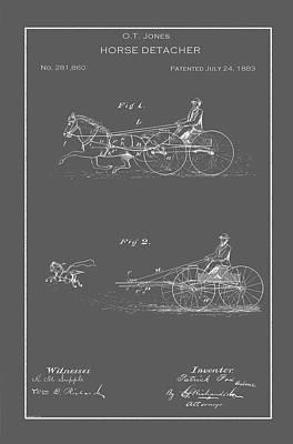 Drawing - Vintage Horse Detacher Patent by Vintage Pix