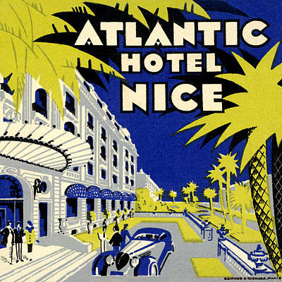 Photograph - Vintage Hotel Ad by Andrew Fare