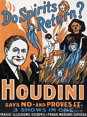 Vintage Houdini Poster Art Print