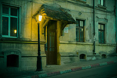 Photograph - Vintage House And Street Lamp In Iasi Romania by Vlad Baciu