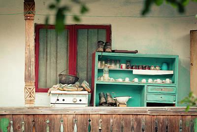 Photograph - Vintage House Verandah With Wooden Closet by Vlad Baciu