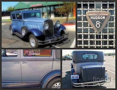 Photograph - Vintage Hudson Collage by Kay Novy