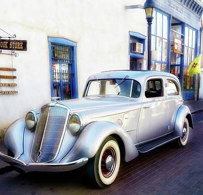 Photograph - Vintage Hupmobile Mesilla New Mexico by Barbara Chichester