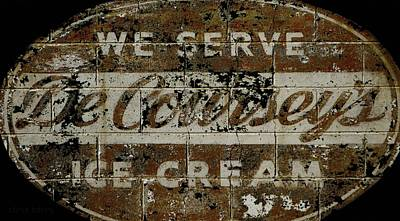 Photograph - Vintage Ice Cream Mural  by Chris Berry