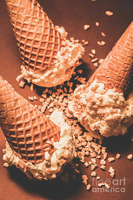 Cone Photograph - Vintage Ice Cream Shop Art by Jorgo Photography - Wall Art Gallery