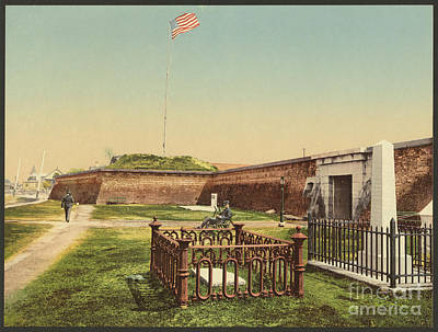 Photograph - Vintage Image Of Fort Moultrie by Dale Powell
