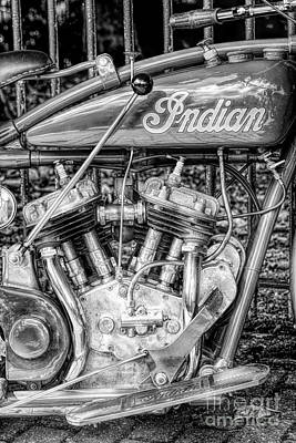 Gear Photograph - Vintage Indian 101 Scout by Tim Gainey