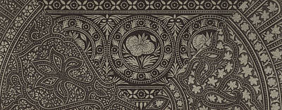 Phone Case Drawing - Vintage Indian Textile Design by German School