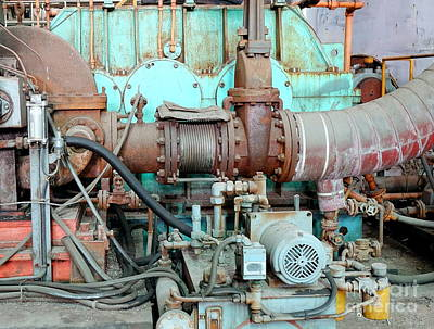 Photograph - Vintage Industrial Equipment by Yali Shi