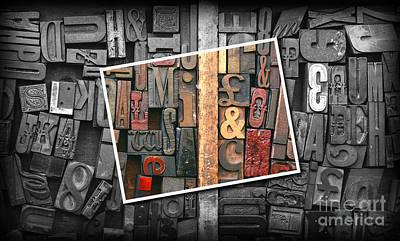 Vintage Inked Typeface Art Print