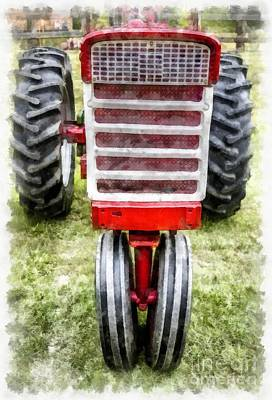Vintage International Harvester Tractor Art Print