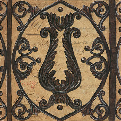 Vintage Iron Scroll Gate 2 Print by Debbie DeWitt