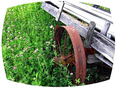 Vintage Irrigation Wagon Print by Will Borden