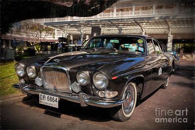 Vintage Jaguar Print by Adrian Evans