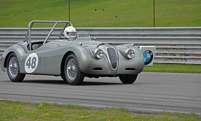 Photograph - Vintage Jaguar  by Mike Martin