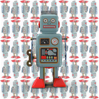 Photograph - Vintage Japanese Toy Robot Design by Edward Fielding