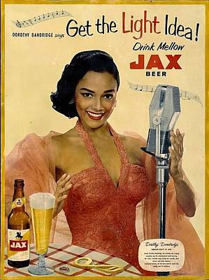Drawing - Vintage Jax Beer Ad by Allen Beilschmidt
