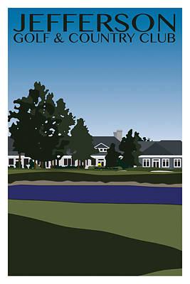Golf Digital Art - Vintage Jefferson by Samuel Beckman