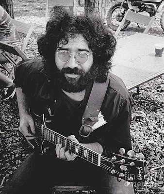 Musicians Royalty Free Images - Vintage Jerry Garcia Royalty-Free Image by Pd