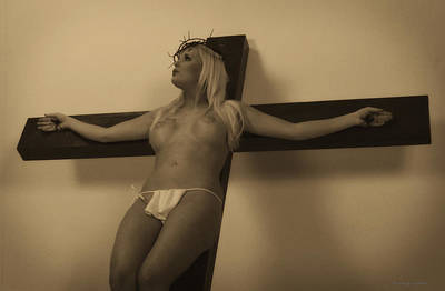 Female Christ Photograph - Vintage Jesus by Ramon Martinez