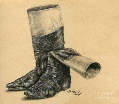 Allen Boots Drawing - Vintage Jockey Boots by Thomas Allen Pauly