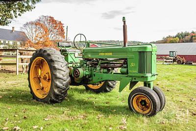 Photograph - Vintage John Deere 50 Tractor by Edward Fielding