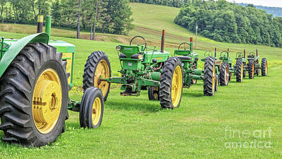 Classic Collection Photograph - Vintage John Deere Farm Tractors Parade by Edward Fielding