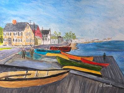 Painting - Vintage Joppa Flats by Anne Sands