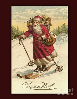 Digital Art - Vintage Joyeux Noel Christmas Card by Melissa Messick