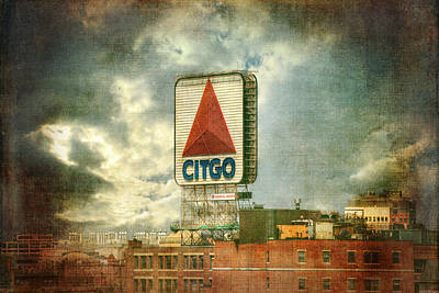 Red Sox Photograph - Vintage Kenmore Square Citgo Sign - Boston Red Sox by Joann Vitali