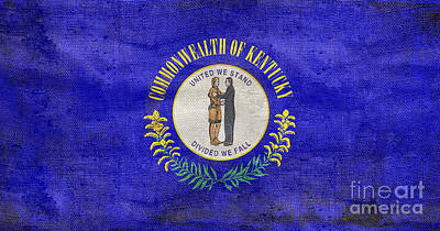 Vintage Kentucky Flag Art Print by Jon Neidert