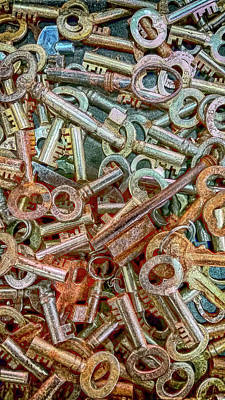 Photograph - Vintage Keys by David Millenheft