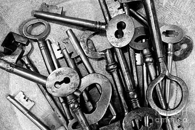Photograph - Vintage Keys by John  Mitchell