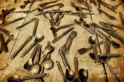 Cutlery Photograph - Vintage Kitchenware by Jorgo Photography - Wall Art Gallery